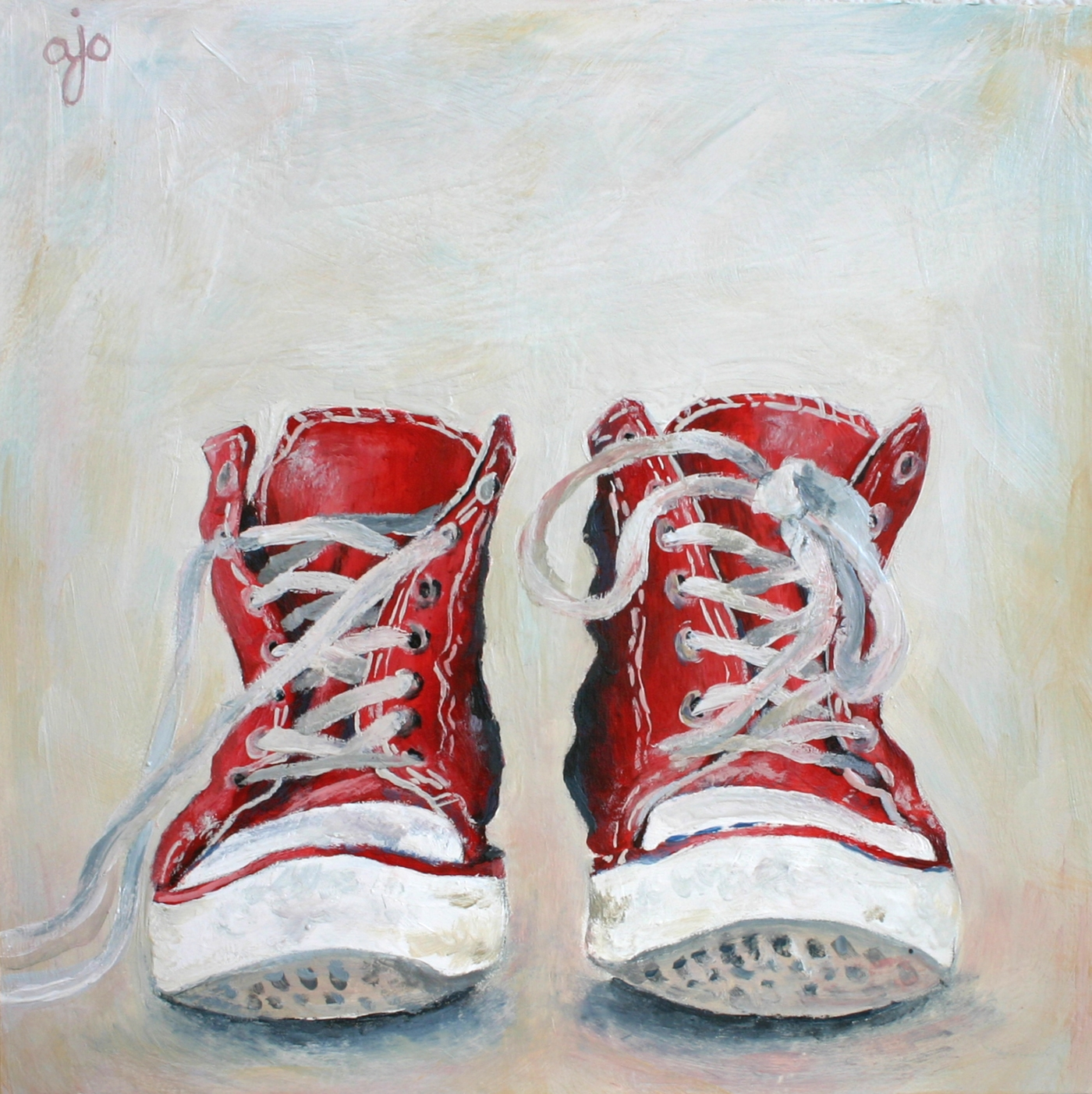 72a32fa3bd18 Daily Painting  Red Chucks – Abra Johnson